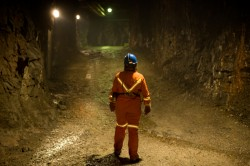 iStock lady in a mine